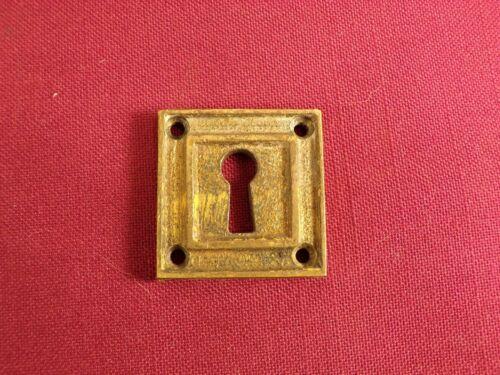 Antique /Vintage Cast Bronze / Brass Keyhole Cover Escutcheon Plate