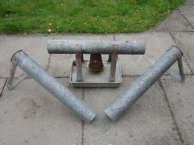 Vintage ELTEX Galvanised Metal Greenhouse Paraffin Heater & Extension Pipes