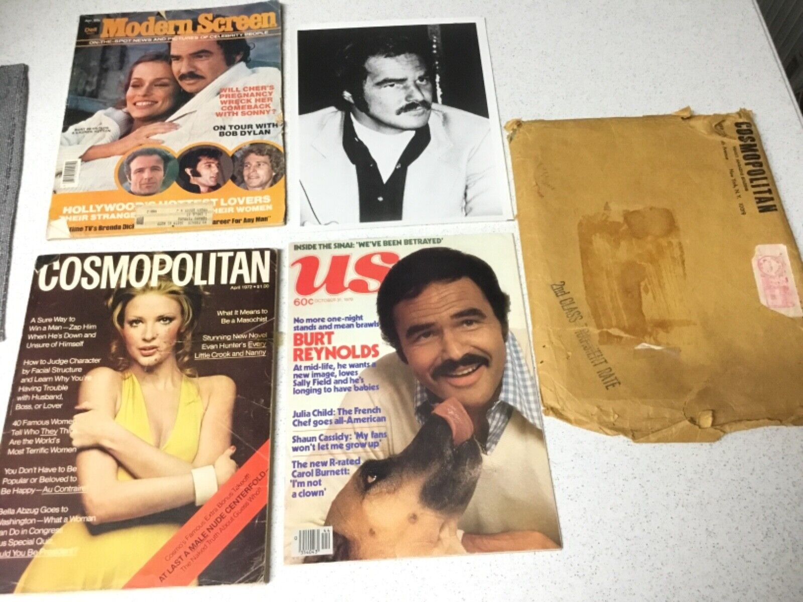 Burt Reynolds Collection Cosmopolitan Nude Centerfold 1972, US 1978, Modern Scre - $155.00