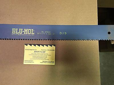 10pcs- 24 X 1-34 X .088 X 4t Power Hack Saw Blade Blu-mol High Speed Steel
