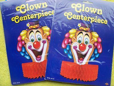 2 Clown Centerpiece Decorations Carnival Circus Double Fun (Clown Centerpieces)