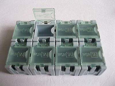 50 Pcs Diy Smd Smt Electronic Component Mini Box Blue Color