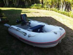 Quicksilver inflatable boat and motor