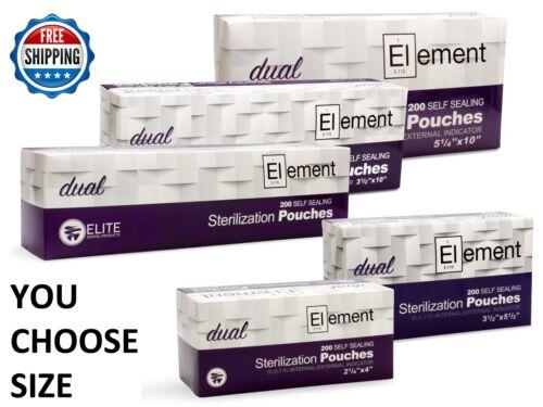 All Sizes - Element Self Seal Sterilization Pouch Dual Indicator Dental Tattoo