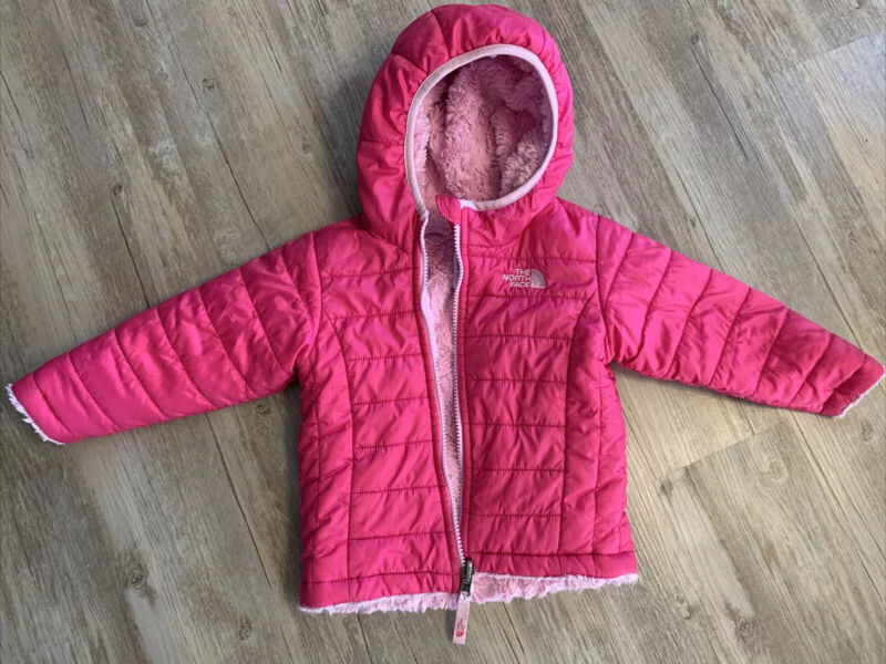 baby girls north face winter pink jacket size 12-18 months