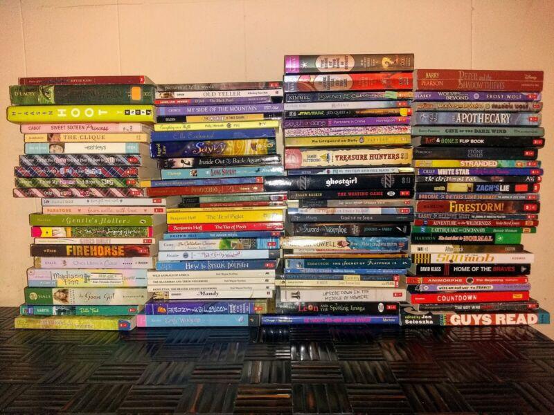 LOT OF 100...CHAPTER BOOKS...BOOK LEVEL 4-6...CHILDREN BOOKS