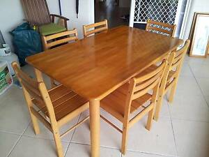 Pine dining tabke 6 seats Mount Sheridan Cairns City Preview