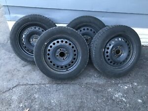 2007-2012 Nissan Sentra Winter Tires on Rims 205/55R16 4x114.3