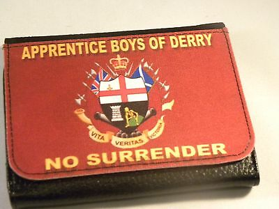 APPRENTICE BOYS OF DERRY NO SURRENDER LOYALIST UNIQUE EXCLUSIVE TRI FOLD WALLET