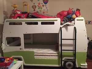 Never used Kids bus bed and brand new matress Glen Alpine Campbelltown Area Preview