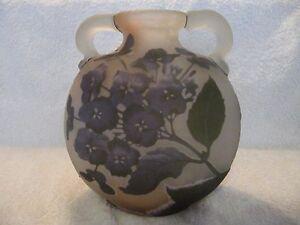 french-original-emile-Galle-cameo-glass-hydrangea-vase-flask-star-mark-1904