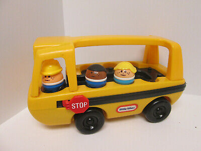Vintage Little Tikes People Toddle Tots School Bus with Figures