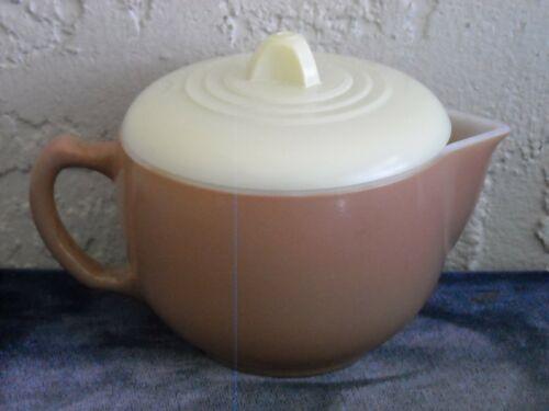 Moderntone Little Hostess Beige Teapot w/ Yellow Lid  Lemon/Beige/Pink/Aqua Set