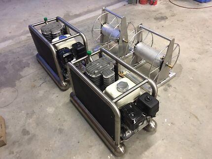 Dive hookah petrol compressor