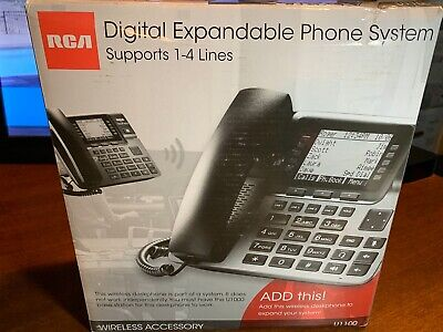 Rca Unison U1100 4-line Cordless Phone Black Fast Free Same Day Shipping