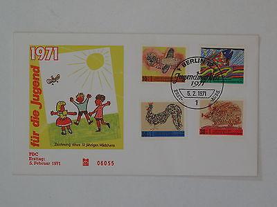 (k386) Berlin Schmuck FDC Michel Nr. 386-389 Jugend 1971 Kinderzeichnungen