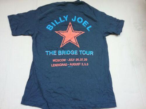 BILLY JOEL 1987 RUSSIA TOUR 1 STICH SHIRT M DEADSTOCK RARE UNWORN CLEAN HTF VTG!