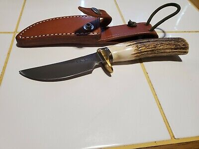 RANDALL MADE KNIVES MODEL 21 LITTLE GAME STAG HUNTING KNIFE W/SHEATH NEVER USED