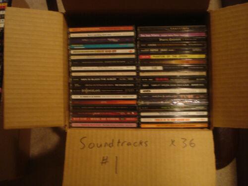 Soundtracks 36 CD lot #1 w/ free shipping!