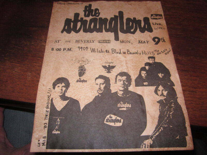 THE STRANGLERS FLYER 1983 PUNK L.A.