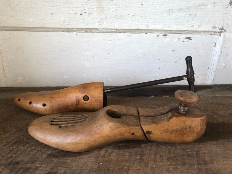 Antique Vintage Wood Shoe Stretcher Lot 2