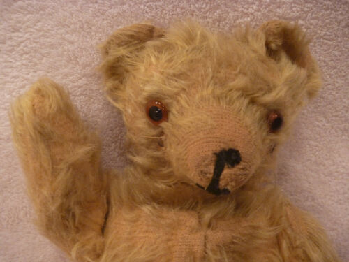 "Atique Steiff ORIGINAL Mohair TEDDY BEAR 1900s Pre War WWII Mohair 12"" Vintage"