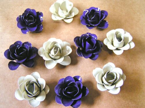 TEN Roses, metal flowers for Crafts, jewelry, embellishments, accents
