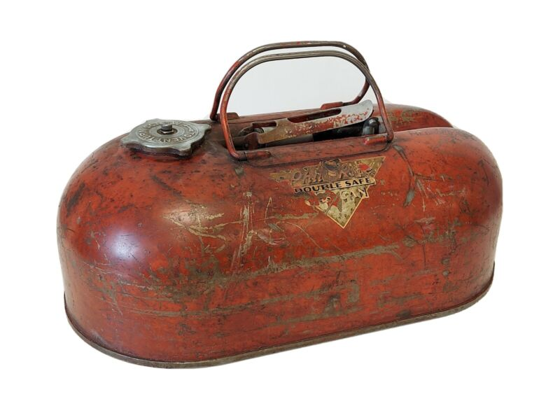 Vintage Phil Rite Outboard Boat Gas Can Double Safe 2 1/2 gal 1950