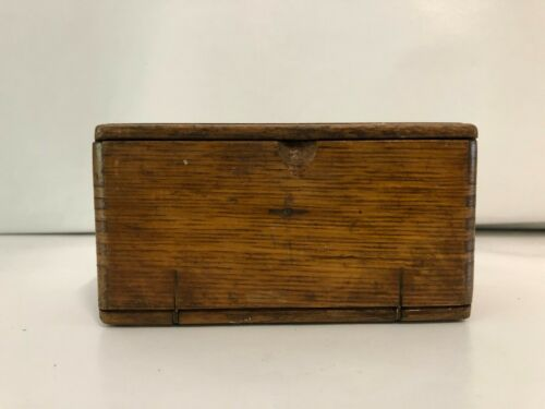 Antique Box  Dovetail Wooden Unfolding  Box for Sewing Machine Accessories .