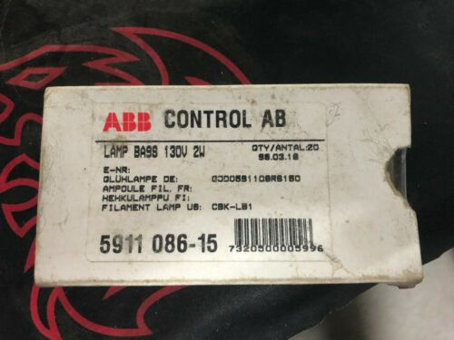 ABB Lot of 10 pcs BA9S 130V 2W 5911086-15 Filament lamp Small Light Bulb