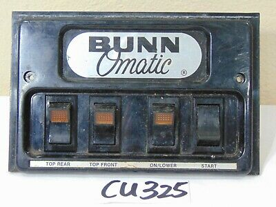Bunn Commercial Coffee Maker Stf 15 Replacement Part On Off Switch Panel