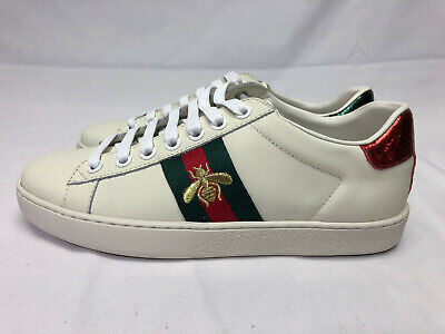 Authentic New in Box Gucci Ace Lace Bee Sneakers 36 US 5.5-6 Shoes
