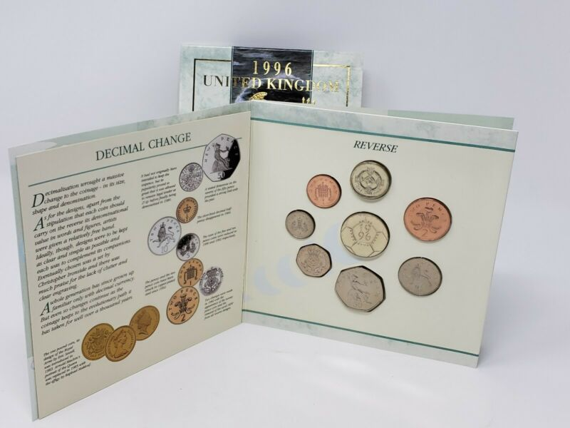 Royal Mint United Kingdom 1996 Brilliant Uncirculated 8 Coin Collection Set