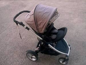 Steelcraft Strider Compact single/double pram +all accessories Homebush Strathfield Area Preview
