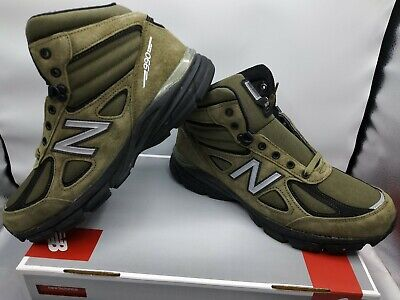 New Balance 990V4 MO990FL4 Mid Olive Green Size 10.5 Army Suede Boot...