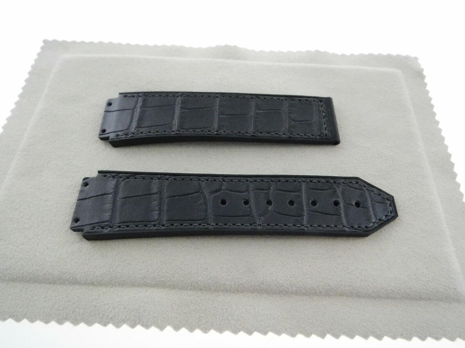 Hublot 22,5 - 20 mm Krokoband für Faltschließe Big Bang Uhr Modelle Neu