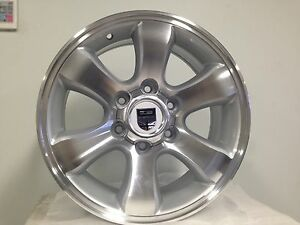 4WD WHEELS MACHINE SILVER,suit Colorado, Hiace Van, Hilux, Ranger, Rodeo etc
