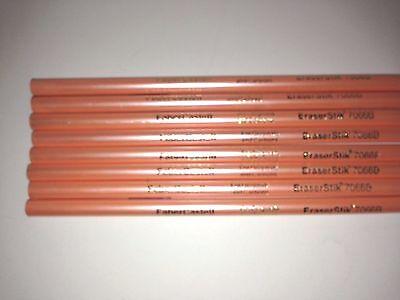8 X Vintage Faber-castell Pink Eraser Stick Pencil 7066 B
