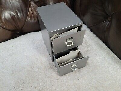 Mini File Cabinet Business Card Holder 2-drawer
