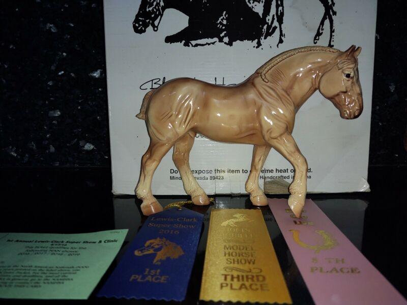 Black Horse Ranch Resin Blonde Chestnut Percherons Glossy Breyer