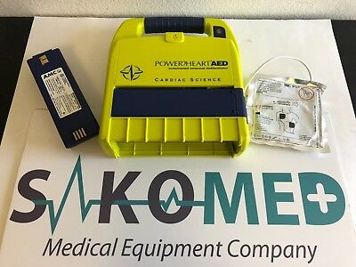 Cardiac Science Powerheart Aed 9200rd New Adult Pad And New Battery