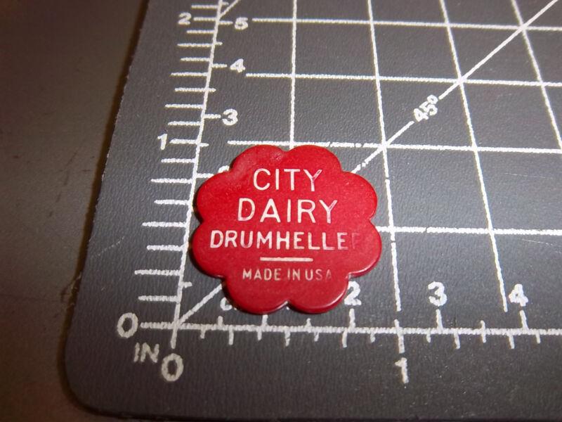 City Dairy Drumheller Alberta Canada token, good for one Quart Milk, unique item
