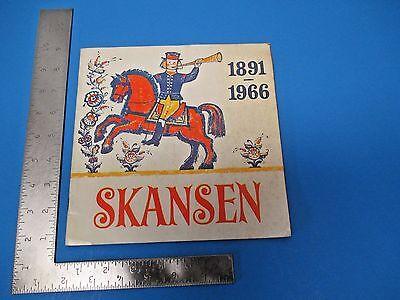 International Travel Inform Brochure 1966 Swedish Skansen With Color Photos M232