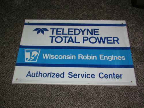 """Vintage Wisconsin Robin Engines Metal Sign Authorized Service Center 35"""" X 23"""""""