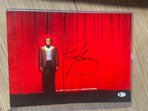 Jim Carrey SIGNED MAN ON THE MOON 14X11 poster WITH BAS COA PSA DNA Miloš Forman