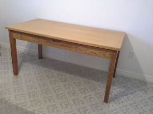 refinished antique office table