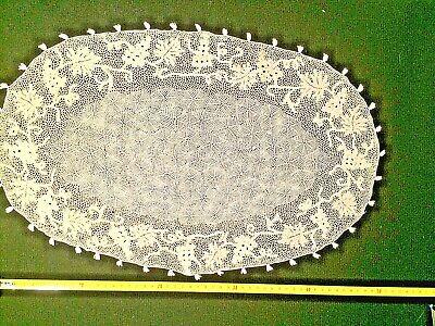 Eccezionalmente fine centrino ovale pizzo di Orvieto 1960 48x31cm. Raro da museo
