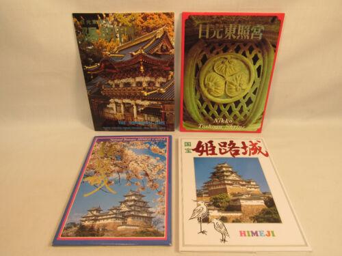 44 Vintage Japan Full Color Postcards Himeji Castle Nikko Toshogu Shrine
