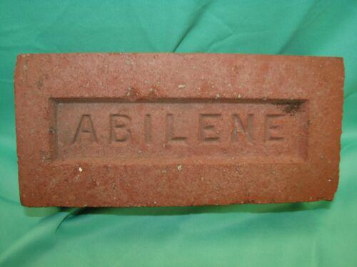 Vintage Used Abilene Texas Red Brick Paving Garden Architecture Decor Walk Way