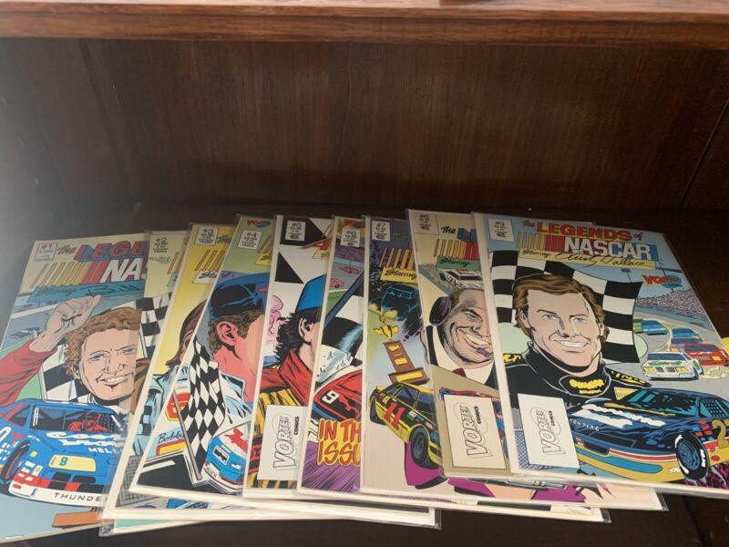 SIGNED VintageNASCAR Adventures, Legends of NASCAR Comic Book Collection of 9